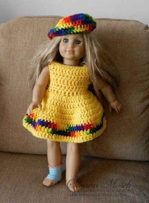 40e747779 Crochet American Girl Doll Dress