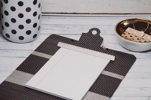 Minimalist washi tape clipboard for 500 decoration details minimalism