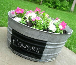 Upcycled Washtub Planter