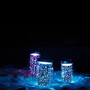DIY Glowing Mason Jars