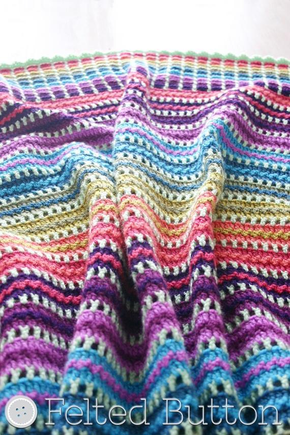 Skittles Blanket Allfreecrochetafghanpatterns Com