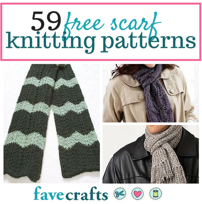 Knitted scarf patterns 59 free scarf knitting patterns for Fave crafts knitting patterns