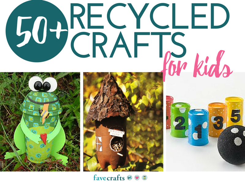 50 recycle crafts for kids for Waste product craft