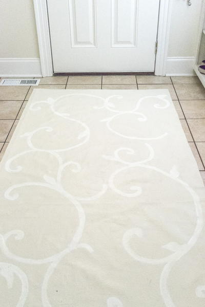 Drop Cloth DIY Rug