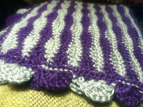 Dreamy Ripples Crochet Afghan