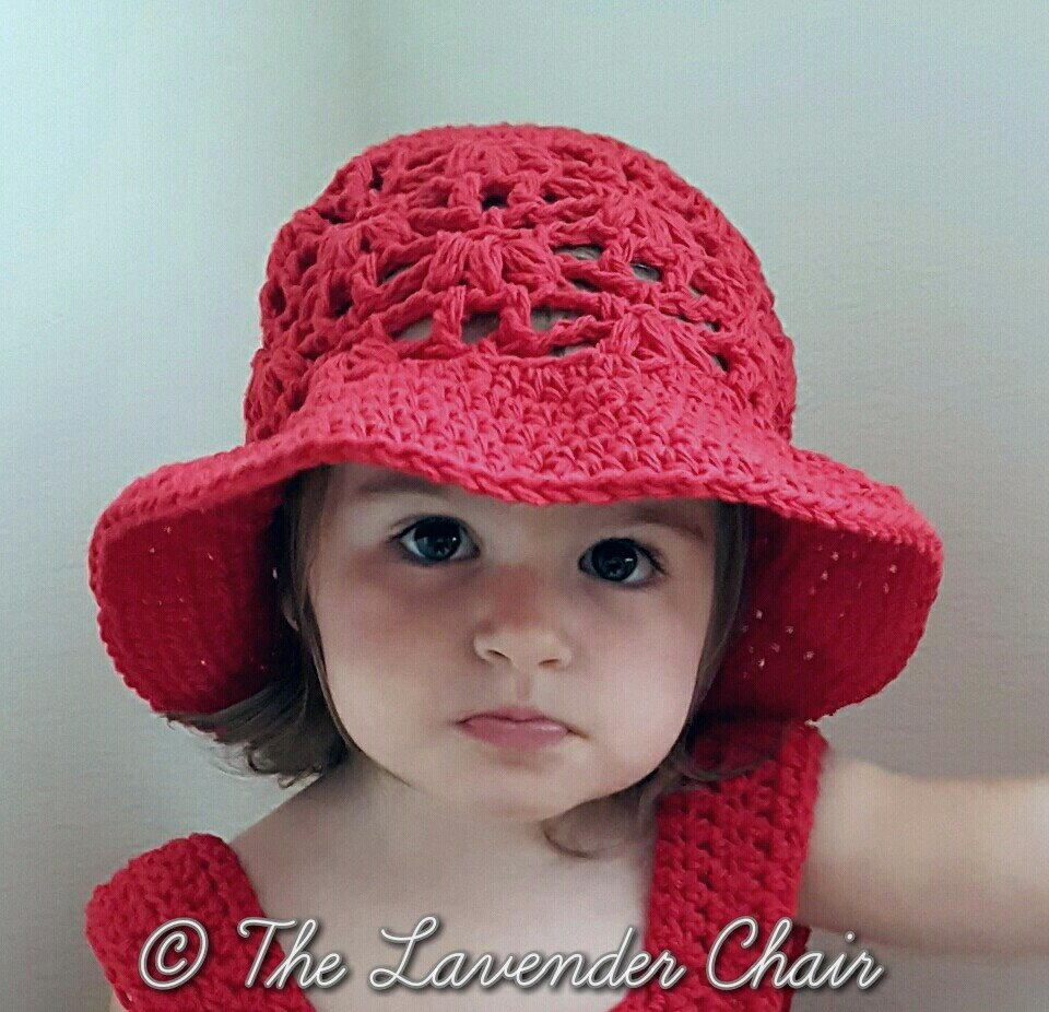 Free Crochet Patterns Baby Swaddlers : Weeping Willow Sun Hat for Infant AllFreeCrochet.com