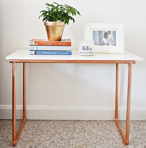 Marble Coffee Table With Copper Legs: Marble And Copper DIY Side Table