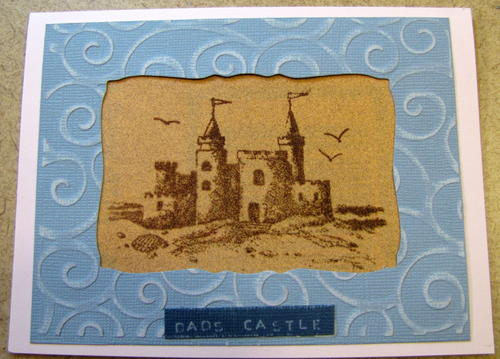 Dads Castle Fathers Day Card