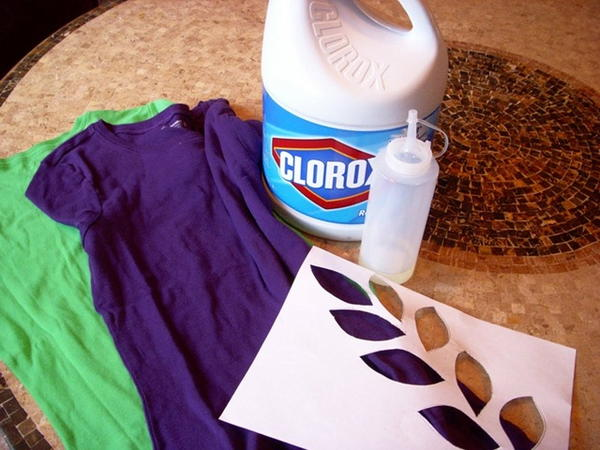 Bleach Stenciling T Shirt Project (Two Ways!)