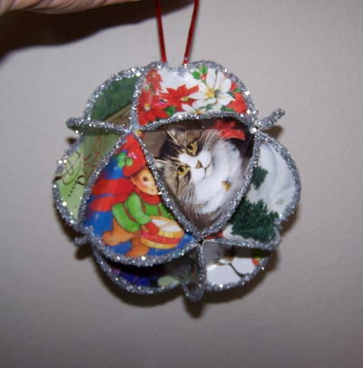Folded Greeting Card Homemade Christmas Ornament