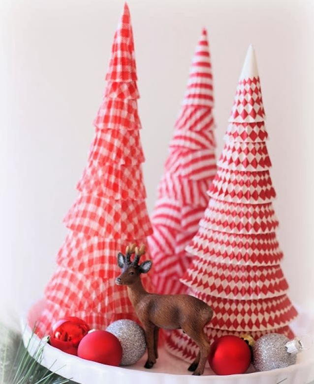 Cupcake Liner Cone Tree AllFreeChristmasCrafts