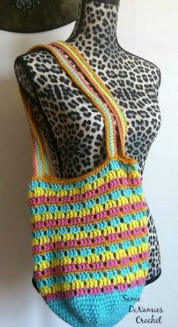 Crochet Bag Written Pattern : Summer Stripes Crochet Bag Pattern AllFreeCrochet.com