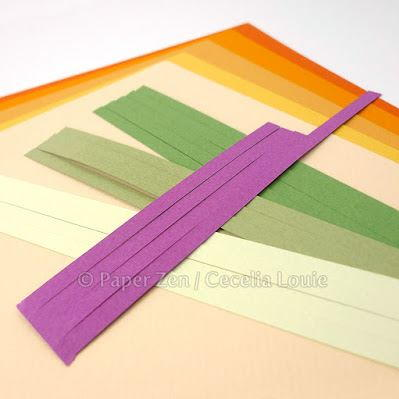 Paper quilling shapes infographic for How to use quilling strips