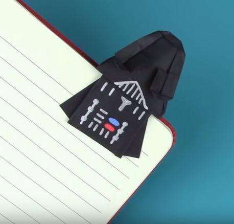 darth vader origami bookmark allfreepapercraftscom