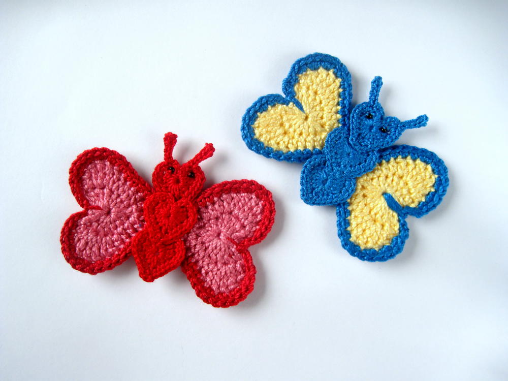 Crochet Butterfly Applique Allfreecrochet