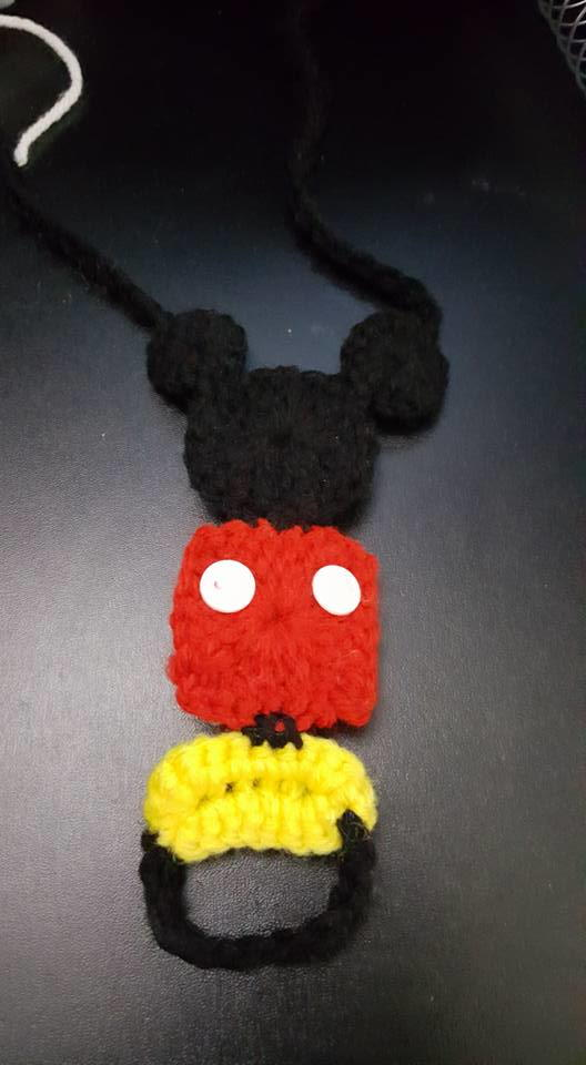Free Crochet Pattern For Mickey Mouse Shoes : Mickey Mouse Barefoot Sandals AllFreeCrochet.com
