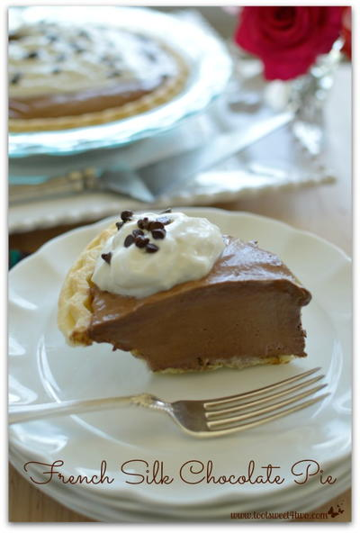 French Silk Chocolate Pie | TheBestDessertRecipes.com