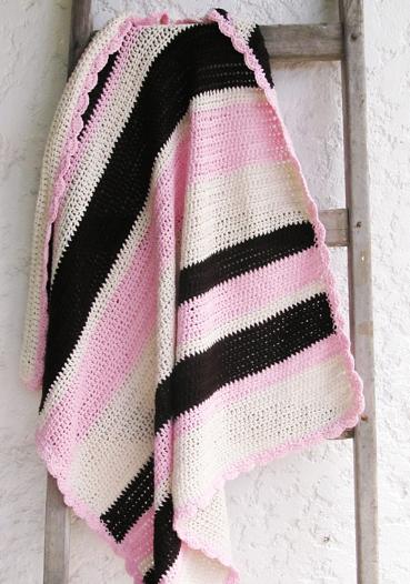 Marshmallow Crochet Baby Blanket Pattern : Toasted Pink Marshmallow Easy Crochet Blanket ...