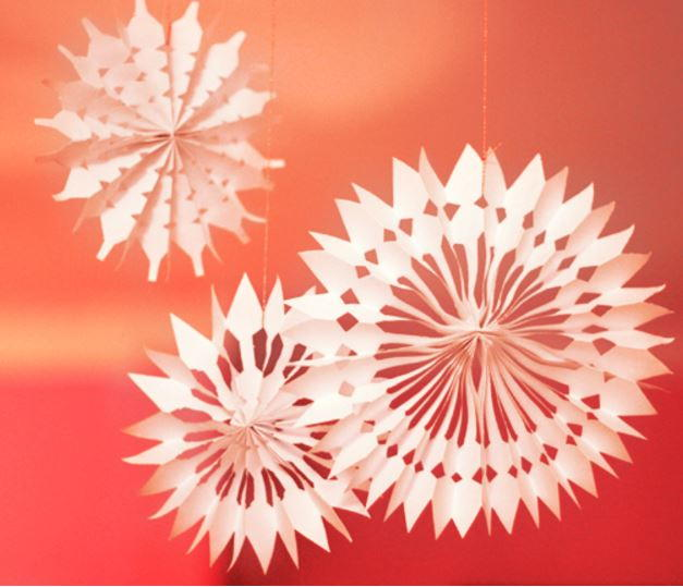 Diy Paper Snowflake Decorations Allfreechristmascrafts Com