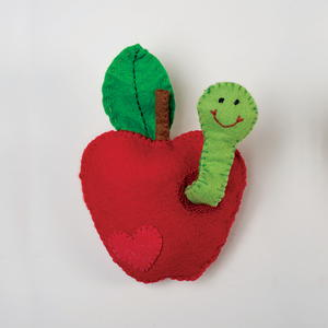 Felt Apple and Worm