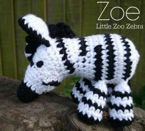 Little Zoo Crochet Zebra AllFreeCrochet.com