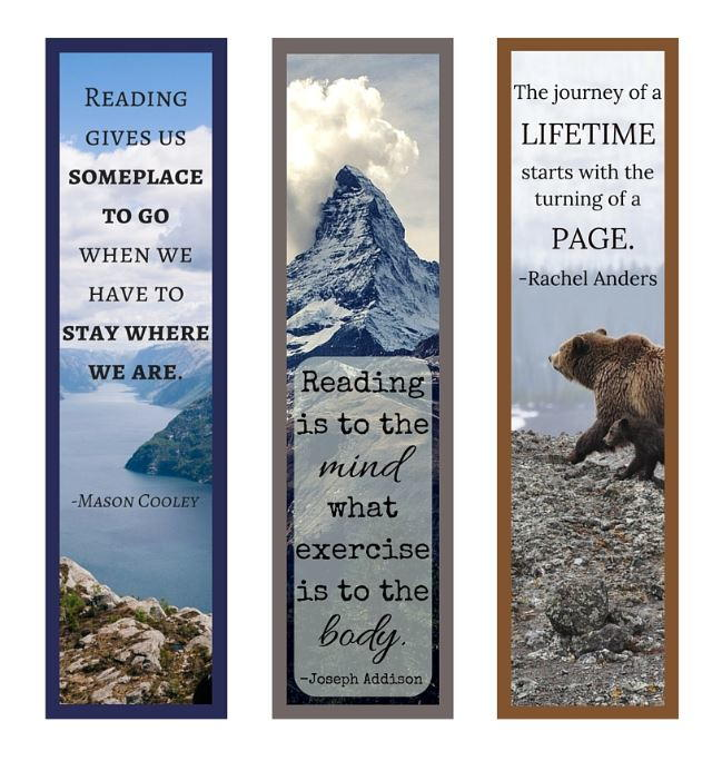 Book Quotes Printable Bookmark Set Allfreepapercrafts Com 26 Quotes