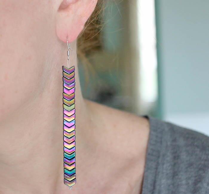 Iridescent Mermaid Scale Diy Earrings