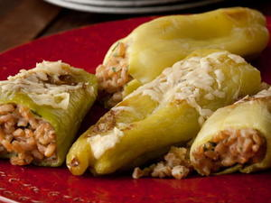 Cubanelle Peppers Stuffed with Farro