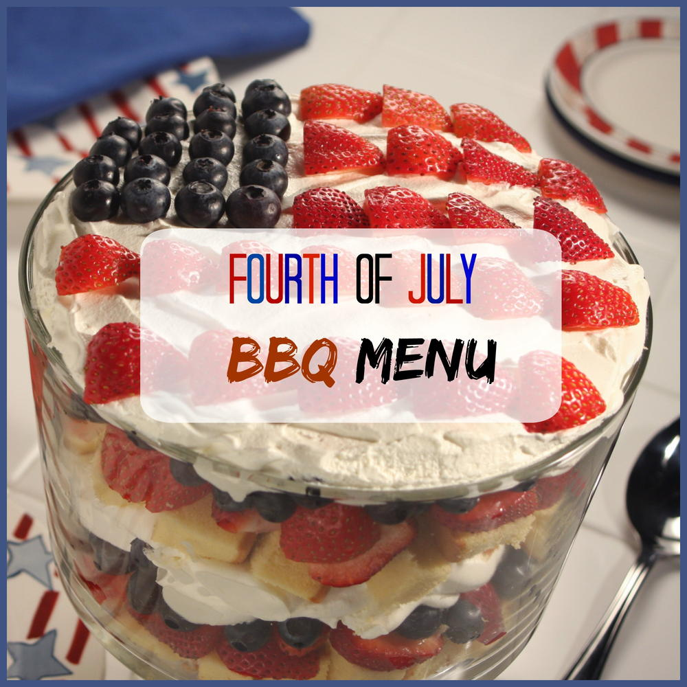 Fourth Of July BBQ Menu