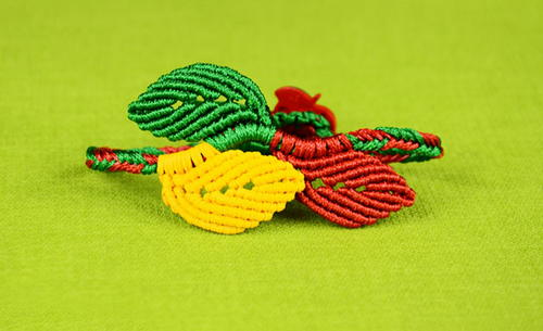 Leaf Bracelet DIY Macrame Tutorial