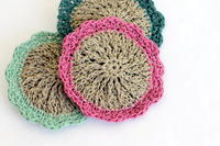 Flowery Hemp Scrubbies