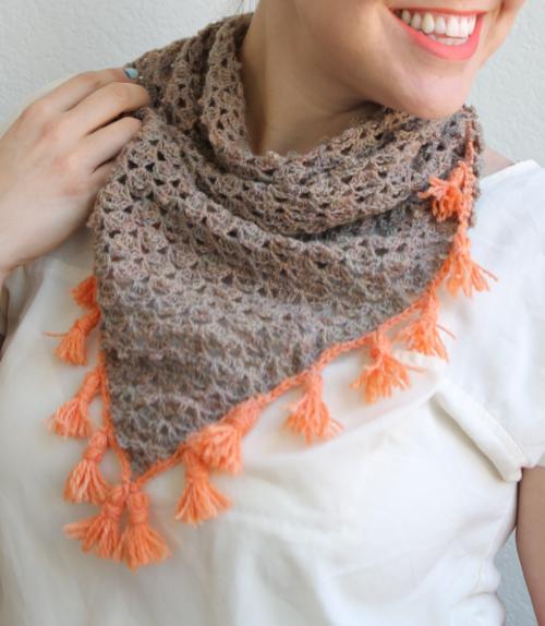 Crochet Scarf Pattern With Tassels : Lacy Tassel Crochet Scarf AllFreeCrochet.com