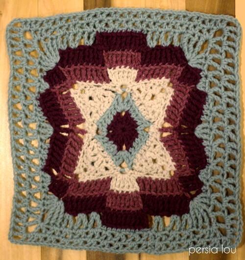 Crochet Pattern Southwestern Afghan : Southwestern Granny Square AllFreeCrochetAfghanPatterns.com