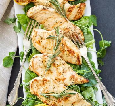 Lemon Rosemary Grilled Chicken | FaveHealthyRecipes.com