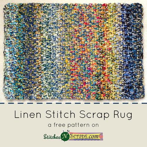 Linen Stitch Scrap Rug
