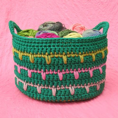 Plarn Laundry Basket AllFreeCrochet.com