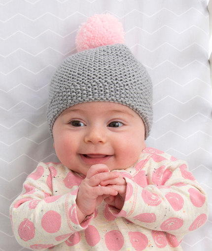 Free Knitting Pattern Garter Stitch Hat : Newborn Cozy Cap AllFreeKnitting.com