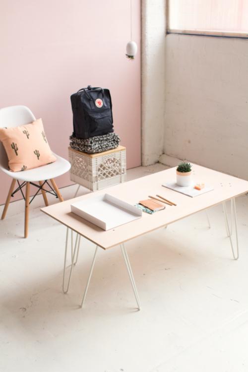 Pink Diy Coffee Table