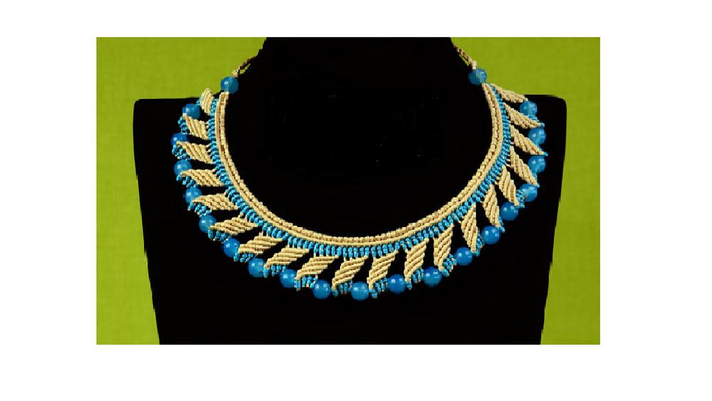 Beaded Egyptian Diy Macrame Necklace
