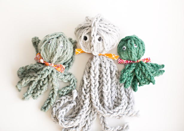Finger Knitting Octopus Pattern Allfreekidscrafts Com