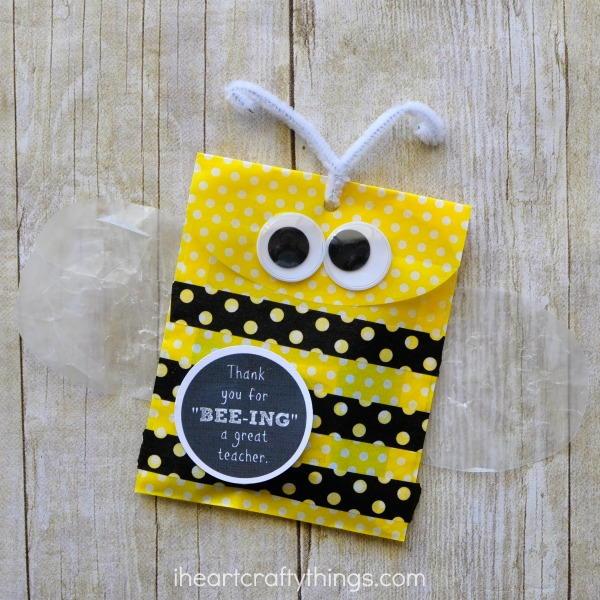 Diy Bumble Bee Teacher Gift Bag Allfreekidscrafts Com