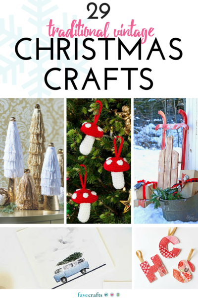 29 vintage christmas crafts for Vintage christmas craft supplies