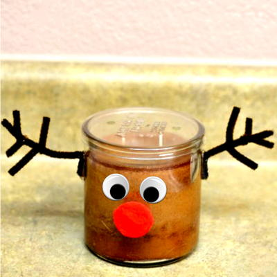 DIY Rudolph Decorated Candle