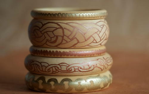 Khaleesi Inspired Wooden Chain Bracelets