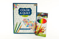 Color a Quilt Adult Coloring Book and Colored Pencils Giveaway