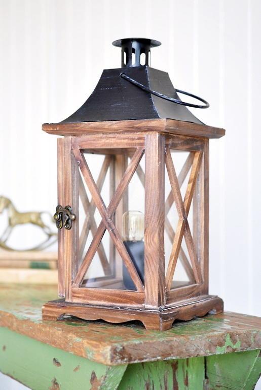 Rustic Diy Lantern Lamp Diyideacenter