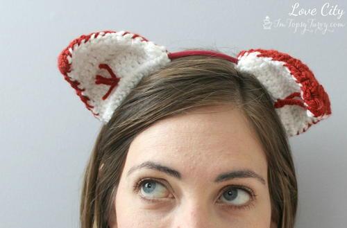 Fox Ears Crochet Headband Pattern
