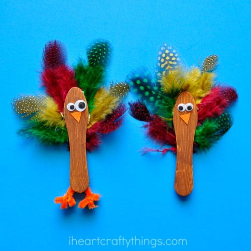 Sweet little pipe cleaner lollipops for Pipe cleaner turkey craft