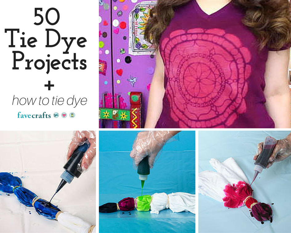 50 tie dye craft projects and how to tie dye. Black Bedroom Furniture Sets. Home Design Ideas
