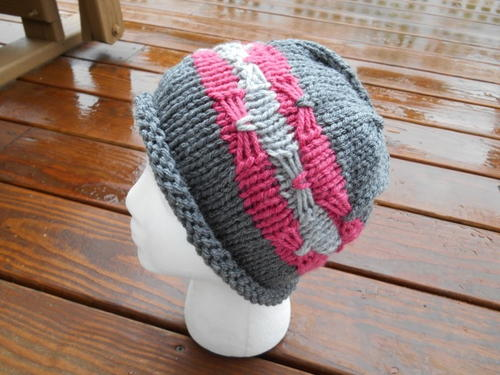 Free Knitting Pattern Chunky Knit Hat : Chunky Knit Hat Pattern AllFreeKnitting.com